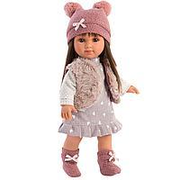 Кукла Сара 35 см, брюнетка в меховом жилете (LLORENS, Испания)