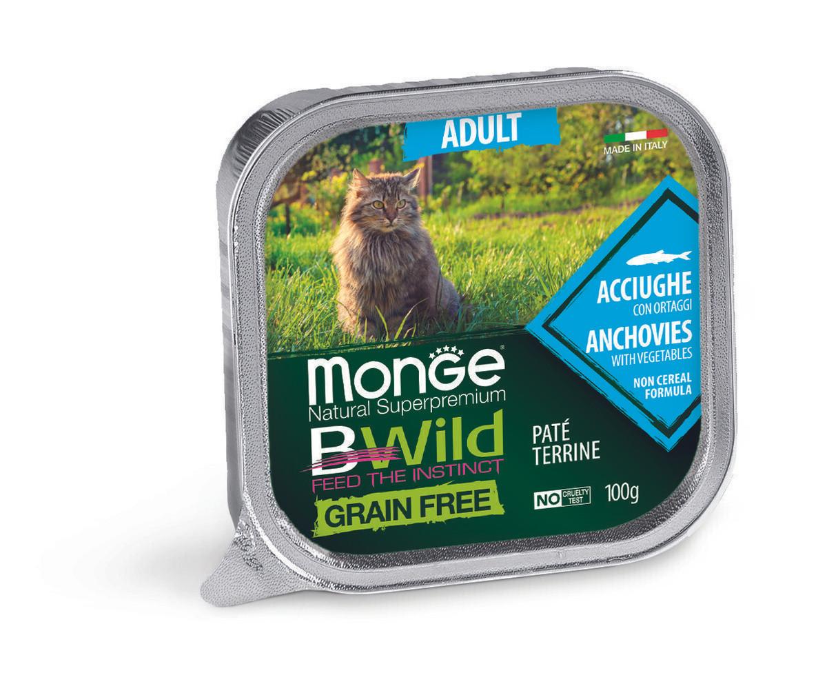 Monge (Монже) Bwild Консервы для кошек, анчоусы