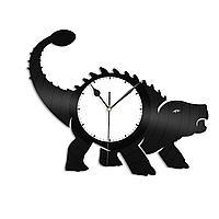 Настенные часы из пластинки Динозавр Анкилозавр, подарок любителю, 1321