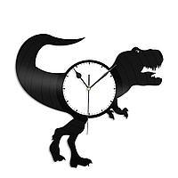 Настенные часы из пластинки Динозавр Тираннозавр, подарок любителю, 1323