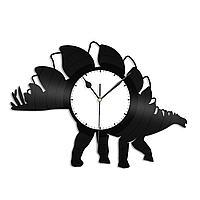 Настенные часы из пластинки Динозавр Стегозавр, подарок любителю, 1325