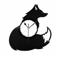 Настенные часы из пластинки Лиса, подарок любителю, 1340