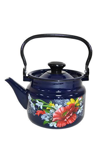 """Чайник эмалированный цилиндр. """"Апрель"""" 2 литра"""
