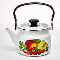 """Чайник эмалированный цилиндр. """"Вкус лета"""" 2 литра"""