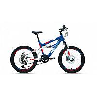 """Велосипед ALTAIR MTB FS 20 disc (20"""" 6 ск. рост 14"""") 2020-2021, синий/красный, RBKT1F106005"""