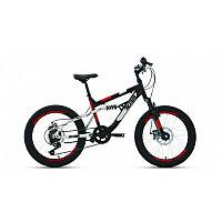 """Велосипед ALTAIR MTB FS 20 disc (20"""" 6 ск. рост 14"""") 2020-2021, черный/красный, RBKT1F106003"""