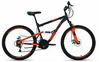 "Велосипед ALTAIR MTB FS 24 disc (24"" 18 ск. рост 15"") 2020-2021, темно-серый/оранжевый, RBKT1F14E005"