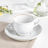 Чайная пара «Тюльпан»: чашка 250 мл, блюдце d=15 см