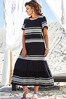 Женское летнее из вискозы нарядное большого размера платье Vittoria Queen 13693 52р.