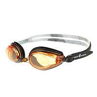 Очки для плавания Techno II, M0428 04 0 01W, цвет чёрный-жёлтый