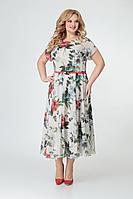 Женское летнее шифоновое большого размера платье Swallow 358 54р.