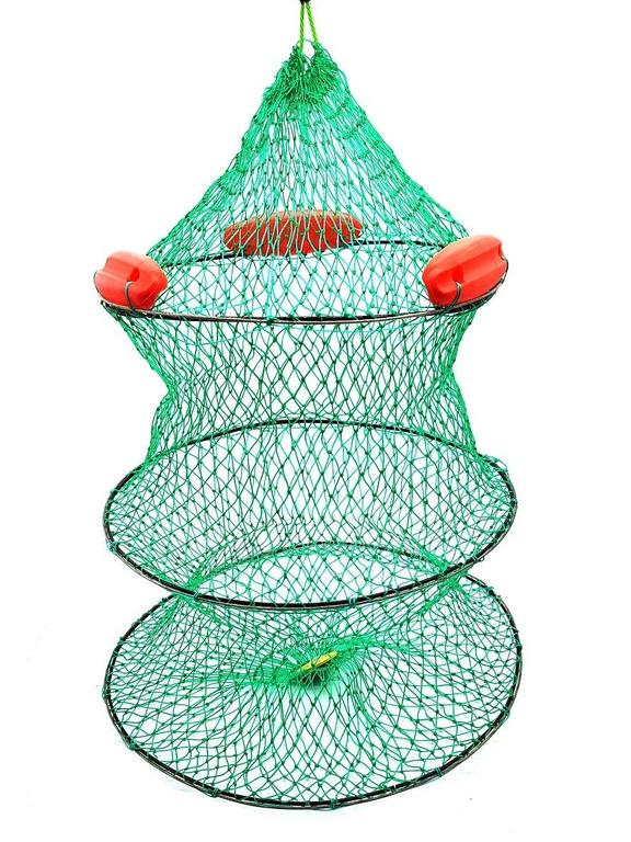 Садок капроновый усиленный с поплавком Ø40см-3кольца