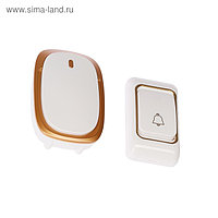 Звонок LuazON LZDV-33, беспроводной, 2хAA (не в комплекте), LR23A, бело-золотой