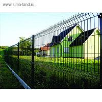 Ограждение панельное, 250 × 103 см, ячейка 200 × 55 мм, прут d = 4 мм, зелёное