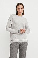 Джемпер женский Finn Flare, цвет светло-серый, размер XL
