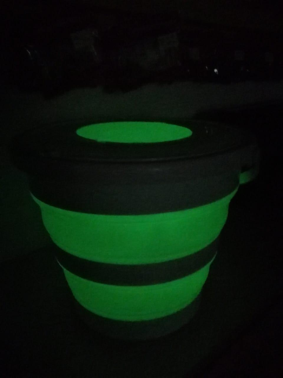 Складное ведро 10 л.с крышкой FLUO светящиеся