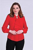 Женская осенняя красная деловая большого размера блуза Таир-Гранд 62304 красный 46р.