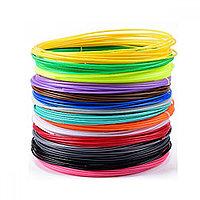 Пластик для 3D ручек 50 метров 10 цветов Набор / запаски для 3д ручки