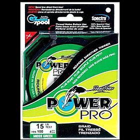 Плетеный шнур 4жильный Power Pro (Китай), 100м, Диаметры:от 0.10мм до 0.60мм