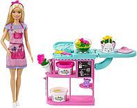 Игровой набор Барби флорист с пластилином и формочками