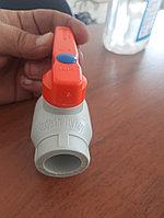 Пластиковый Шаровый Кран (с латунным шариком) 25мм Пр.Турция