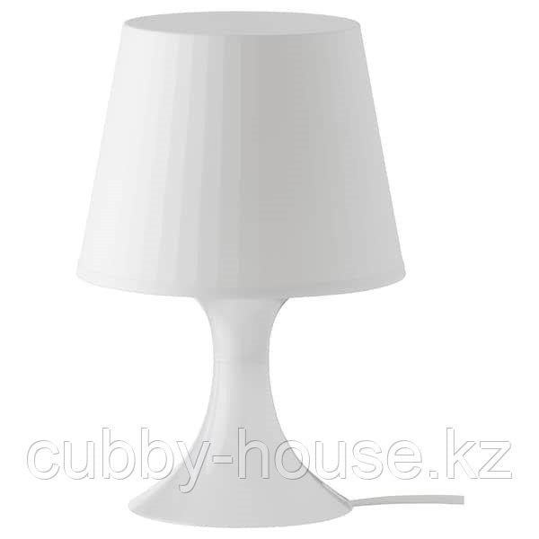 ЛАМПАН Лампа настольная, белый, 29 см