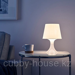 ЛАМПАН Лампа настольная, белый, 29 см, фото 2