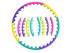 Обруч массажный разборный (цветной) WA-005, фото 3