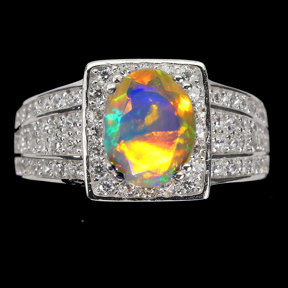 Кольцо с роскошным огненным Опалом