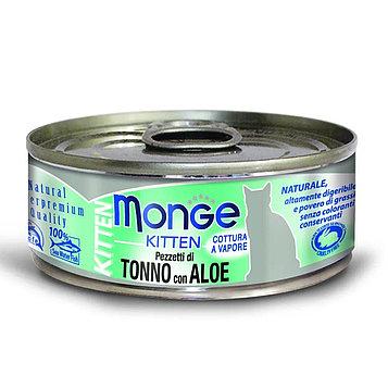 Monge (Монже) Консервы для котят, Тунец в желе с алоэ