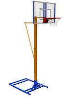Мобильная баскетбольная разборная стойка с регулировкой высоты, фото 1