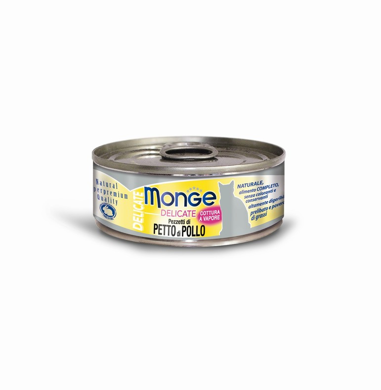 Monge (Монже) Delicate Консервы для кошек, Кусочки курицы