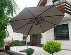 Зонт Banana Lux круглый с чехлом (3х3м), темно-зеленый (без утяжелителей), фото 2