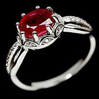 Кольцо с натуральным Рубином