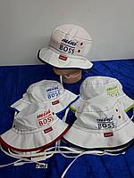 Панама летняя на завязках для мальчика до года. Фирма Magrof