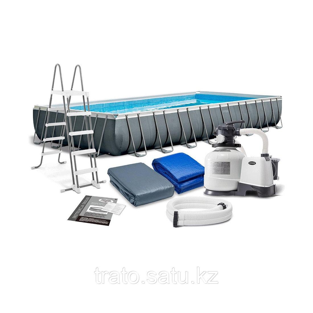Каркасный бассейн Ultra XTR Frame 975 х 488 x 132 см, 54368 л, Песочный ф-насос 10599л/ч