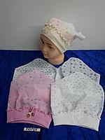 Косынка-шапка летняя для девочки до года. Фирма Tomino