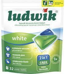 Ludwik Гелевые капсулы для стирки белых тканей 2в1 32 шт