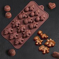 Форма для льда и шоколада «Дино» 12 ячеек (4×2,5×2 см)