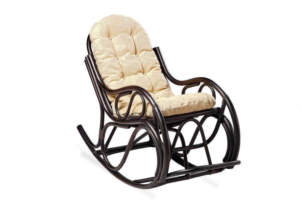 Кресло качалка из натурального ротанга