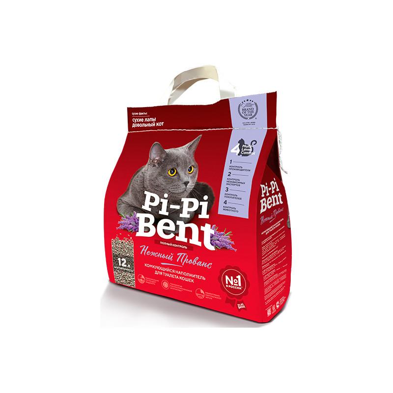 Pi-Pi-Bent Наполнитель комкующийся Нежный прованс, 12 л