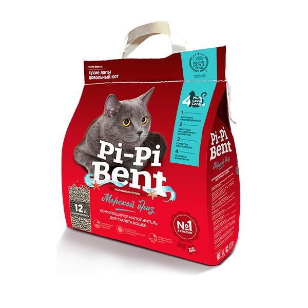Pi-Pi-Bent Наполнитель комкующийся Морской бриз, 12 л