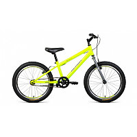"Велосипед ALTAIR MTB HT 20 1.0 (20"" 1 ск. рост 10.5"") 2020-2021, ярко-зеленый/серый, 1BKT1J101003"