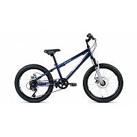 "Велосипед ALTAIR MTB HT 20 2.0 disc (20"" 6 ск. рост 10.5"") 2020-2021, темно-синий/серебристый,"