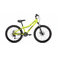 "Велосипед ALTAIR MTB HT 24 2.0 disc (24"" 6 ск. рост 12"") 2020-2021, ярко-зеленый/черный, RBKT11N4P00"