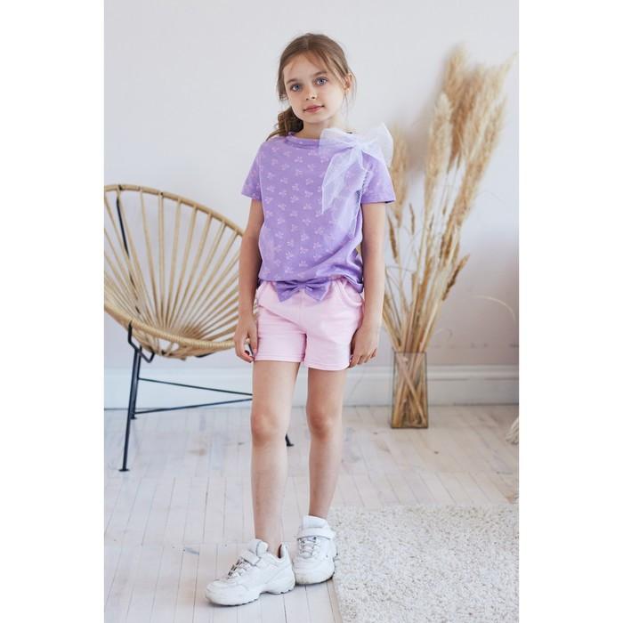 "Футболка KAFTAN ""Ballerina"" р.30 (98-104), фиолетовый"