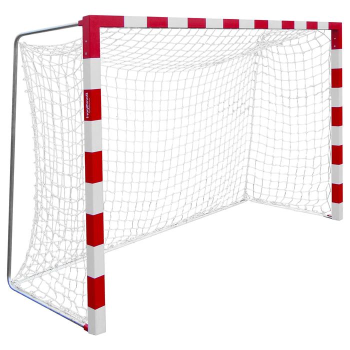 Сетка для гандбола/мини-футбола, нить 2,2 мм, ячейки 40 х 40 мм, цвет белый/синий, набор 2 сетки