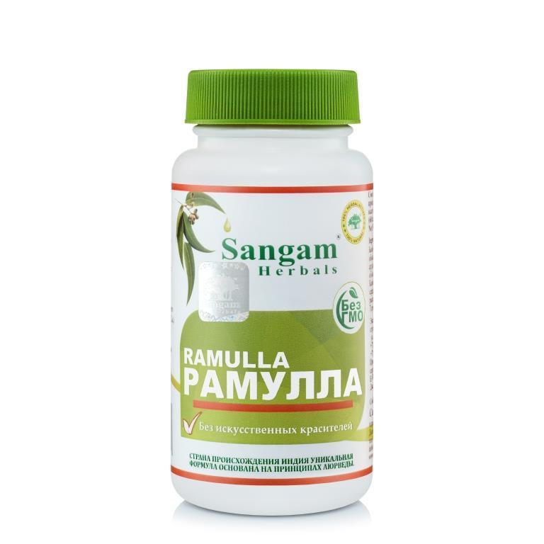 Рамулла, 750 мг, 60 таблеток,Sangam Herbals, поддерживает здоровье и подвижность суставов,
