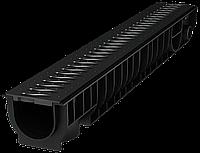 Лоток водоотводный Ecoteck STANDART 100.95 h99 с решеткой пластиковой, кл.А15