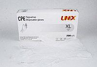 Перчатки CPE, неопудренные, нестерильные XL размер прозрачные 100 пар в упаковке